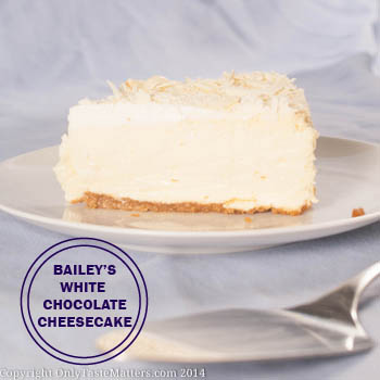 Bailey S White Chocolate Cheesecake With Almond Brown Sugar Crust Only Taste Matters