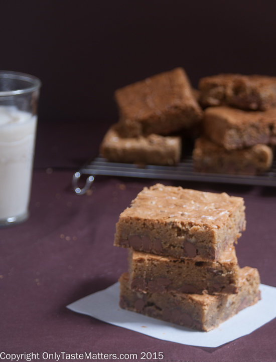 These may be the best blondies I ever had! Oh, and they happen to be gluten free.